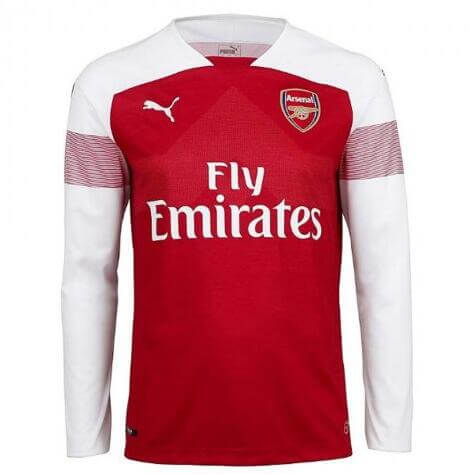 Maillot Arsenal Domicile 18/19 Manches Longue