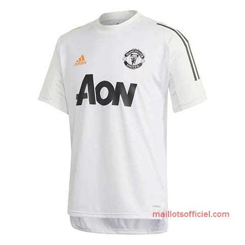 Maillot Manchester United Entrainement 2020/21 Blanc