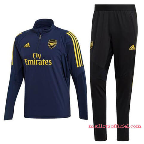 Training Top + Pantalon Arsenal 2019/2020 Bleu Noir