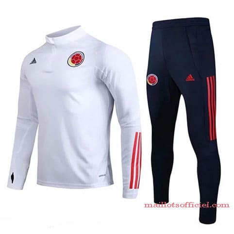 Training Top + Pantalon Colombie 2020/2021 Blanc Bleu