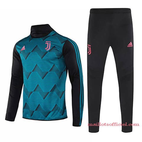 Training Top + Pantalon Juventus 2020/2021 Bleu Noir