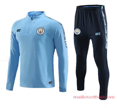 Training Top + Pantalon Manchester City Bleu 2019/20
