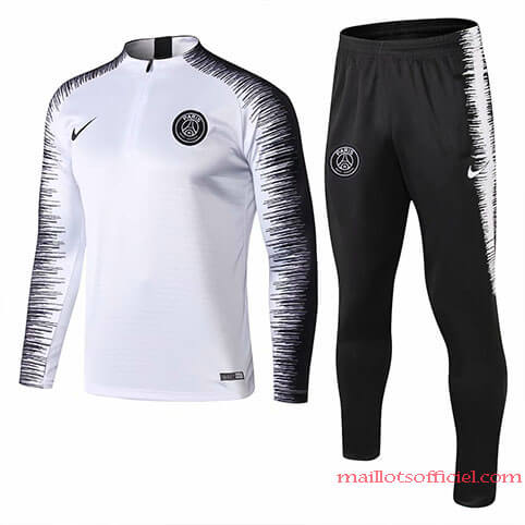 Training Top + Pantalon PSG Blanc Noir 2019/20