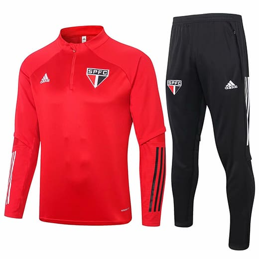 Training Top + Pantalon Sao Paulo 2020/2021 Rouge Noir