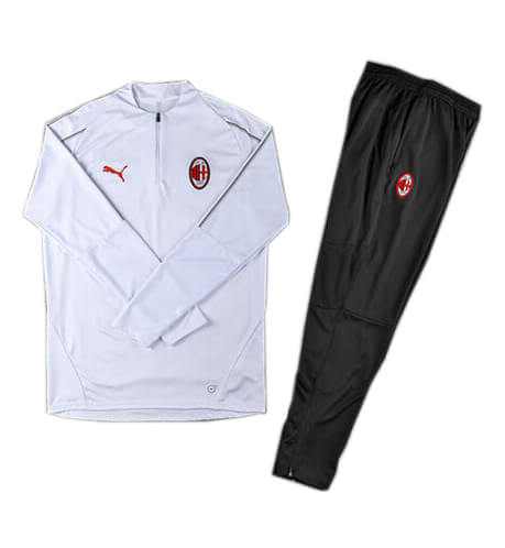 Training Top+Pantalon AC Milan Blanc Noir 2018 2019