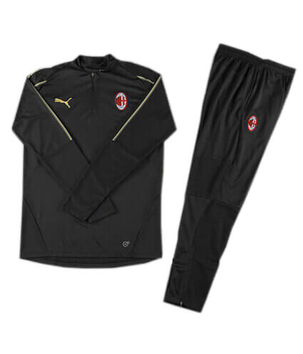 Training Top+Pantalon AC Milan Noir 2018 2019