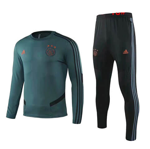 Training Top+Pantalon Ajax 2019/2020 Vert Noir