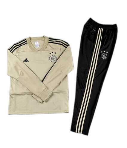 Training Top+Pantalon Ajax Beige Noir 2018 2019