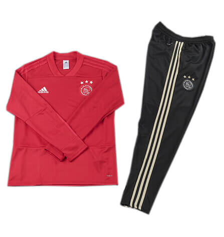 Training Top+Pantalon Ajax Rouge Noir 2018 2019
