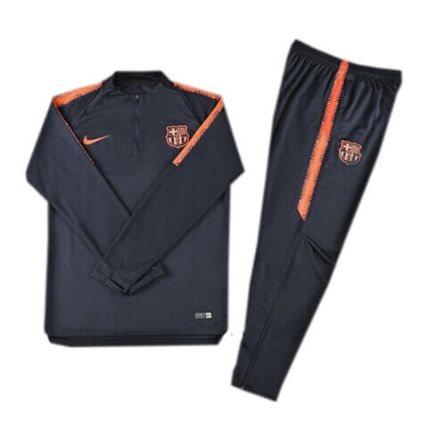 Training Top+Pantalon Barcelone Noir 2018 2019