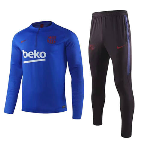 Training Top+Pantalon Barcelone 2019/2020 Bleu Noir