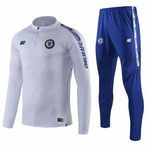Training Top Pantalon Chelsea 2019/2020 Blanc Bleu