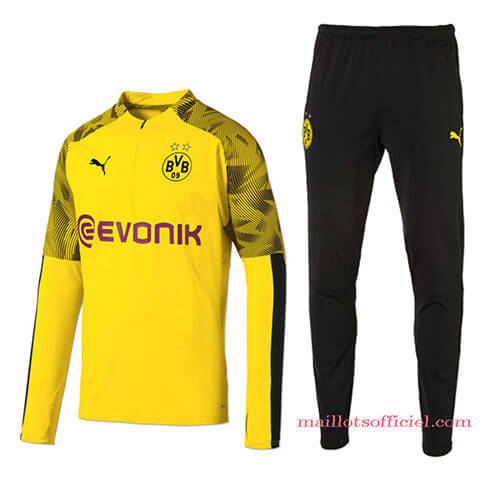 Training Top Pantalon Dortmund 2019/2020 Jaune Noir