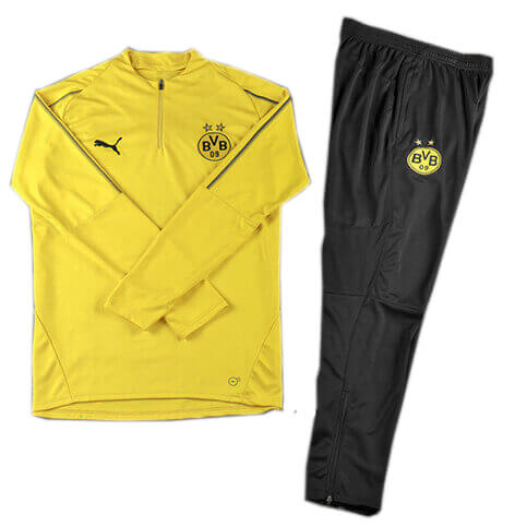 Training Top+Pantalon Dortmund Jaune Noir 2018 2019