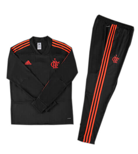 Training Top+Pantalon Flamengo Noir 2018 2019