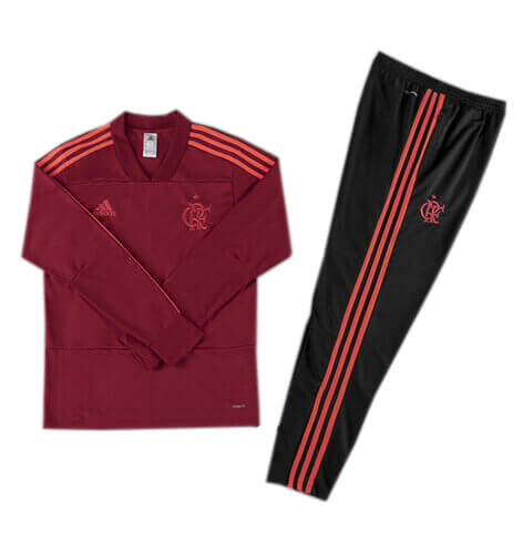 Training Top+Pantalon Flamengo Rouge Noir 2018 2019