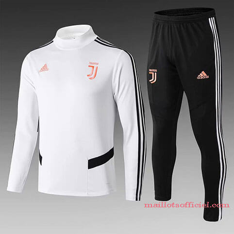 Training Top Pantalon Juventus Blanc Noir 2019/2020