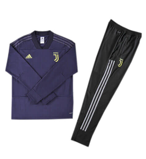 Training Top+Pantalon Juventus Bleu Noir 2018 2019