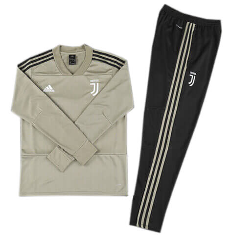 Training Top+Pantalon Juventus Gris Noir 2018 2019
