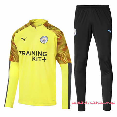Training Top Pantalon Manchester City 19/20 Jaune Noir