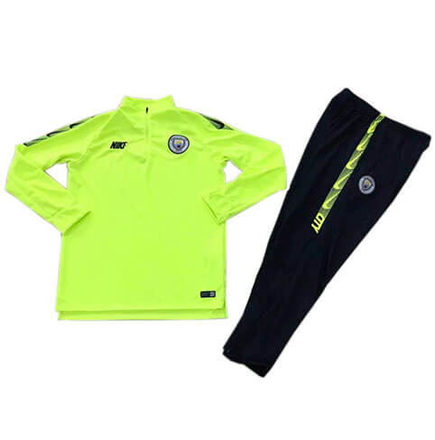 Training Top Pantalon Manchester City 2019/2020 Vert Bleu