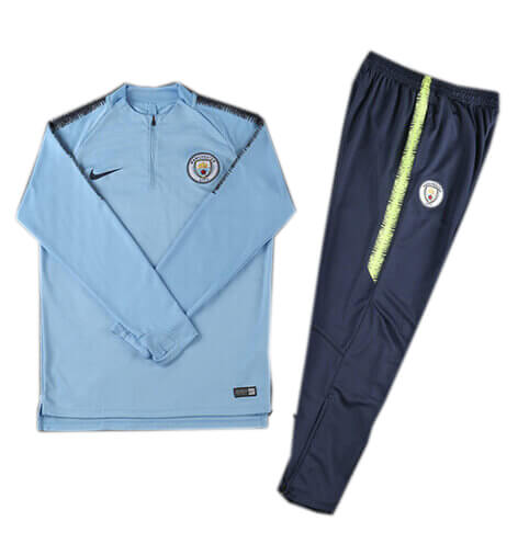 Training Top+Pantalon Manchester City Bleu 18 19