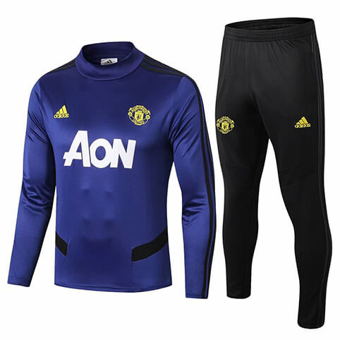 Training Top+Pantalon Manchester United 2019/2020 Bleu