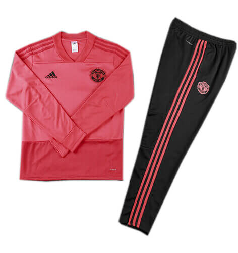 Training Top+Pantalon Manchester United Rouge Noir 2018 2019