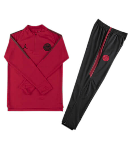 Training Top+Pantalon PSG Jordan x Rouge Noir 2018 2019