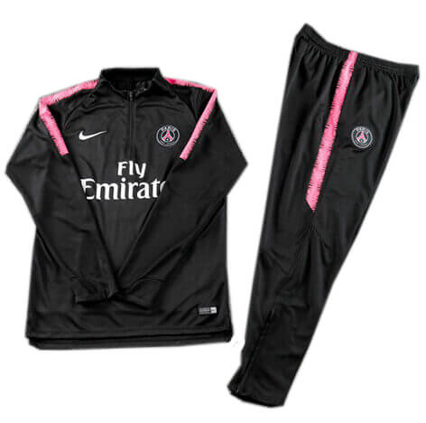 Training Top+Pantalon Paris Saint-Germain Noir 18 19