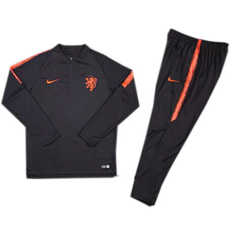 Training Top+Pantalon Pays-Bas Noir 2018 2019