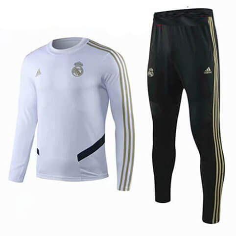 Training Top+Pantalon Real Madrid 19/20 Blanc Noir