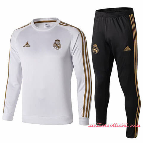 Training Top Pantalon Real Madrid 2019/2020 Blanc Noir