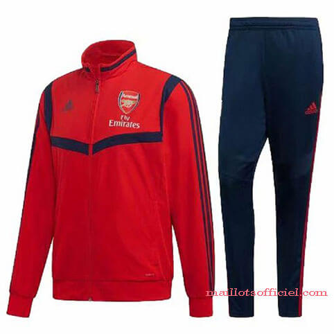 Veste + Pantalon Arsenal 2019/2020 Rouge Bleu