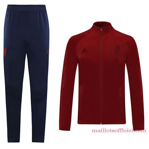 Veste + Pantalon Arsenal 2020/2021 Rouge Bleu