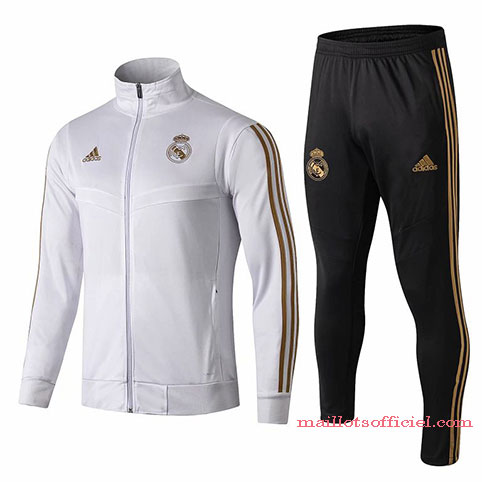 Veste + Pantalon Real Madrid 2019/2020 Blanc Noir