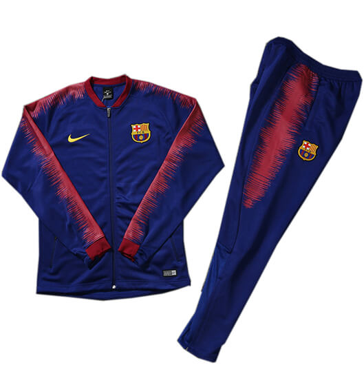 Veste Foot Barcelone 2018/2019 Kit Bleu