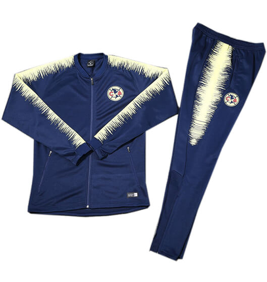 Veste Foot Club América 2018/19 Kit Bleu