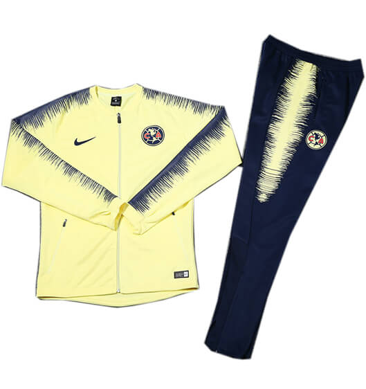 Veste Foot Club América 2018/2019 Kit Jaune Bleu