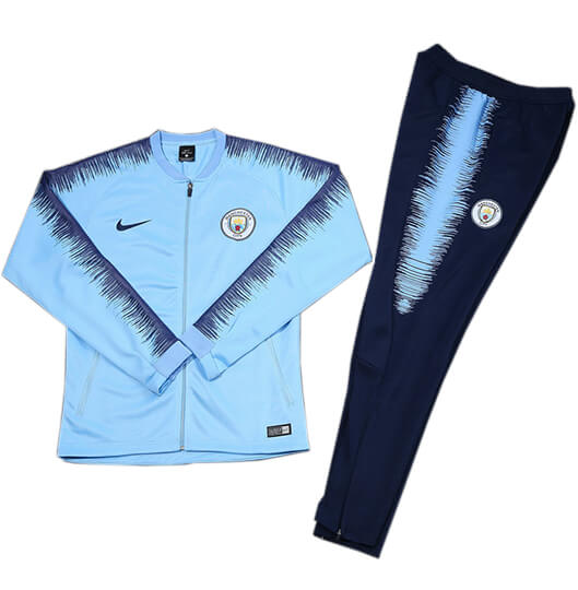 Veste Foot Manchester City 2018/19 Kit Bleu