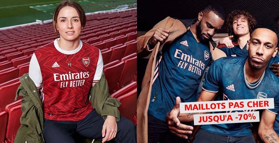 Maillot Arsenal 2022 pas cher