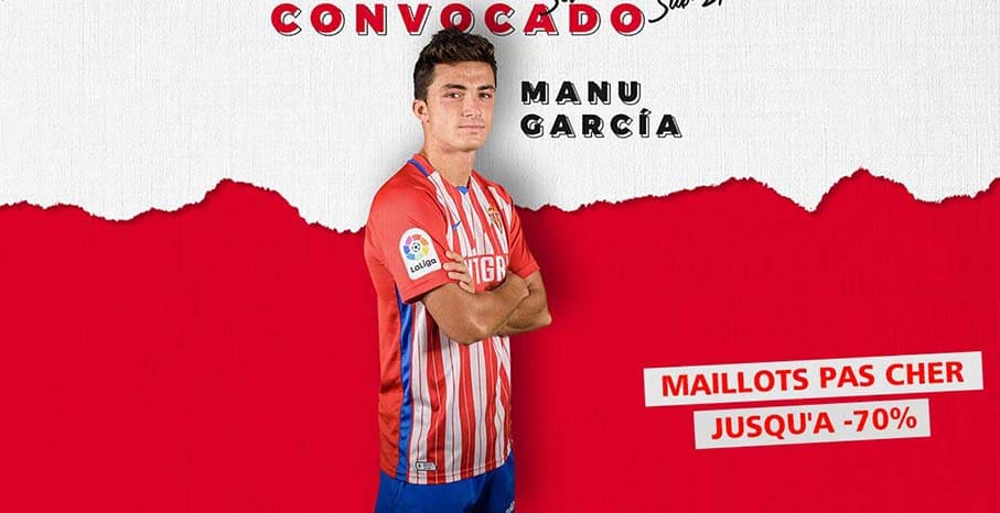 Maillot Sporting Gijon 2022 pas cher