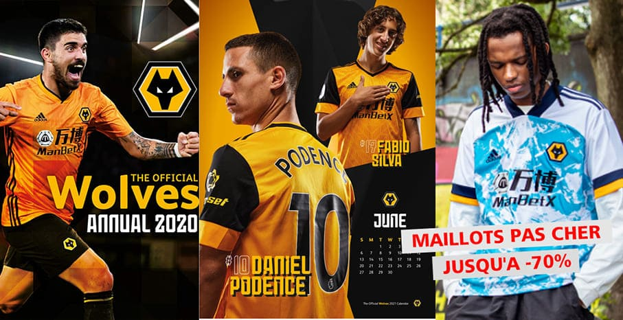 Maillot Wolverhampton Wanderers 2022 pas cher